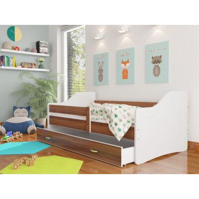 """""""SWEETY"""" leesésgátlós gyerekágy ágyneműtartóval - 3 méretben: Fehér-havana"""
