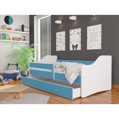 """""""SWEETY"""" leesésgátlós gyerekágy ágyneműtartóval - 3 méretben: Fehér-kék"""