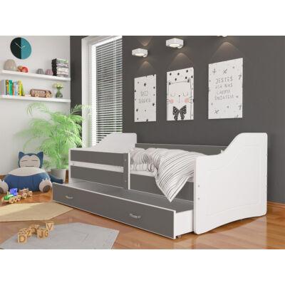 SWEETY leesésgátlós gyerekágy ágyneműtartóval - 3 méretben: Fehér-szürke