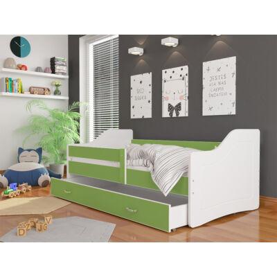 """""""SWEETY"""" leesésgátlós gyerekágy ágyneműtartóval - 3 méretben: Fehér-zöld"""
