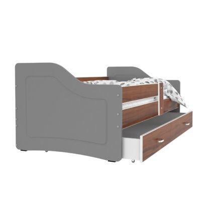 SWEETY leesésgátlós gyerekágy ágyneműtartóval - 3 méretben: Szürke-havana