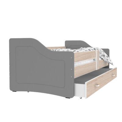 SWEETY leesésgátlós gyerekágy ágyneműtartóval - 3 méretben: Szürke-sonoma
