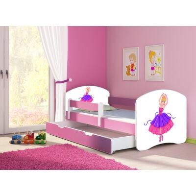 SWEET DREAM leesésgátlós gyerekágy ágyneműtartóval, pink kerettel, 80x180: 41 Ballerina KÉSZLETRŐL