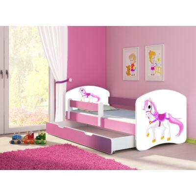 SWEET DREAM leesésgátlós gyerekágy pink kerettel, 80x160 cm: 43 Saddle pony KÉSZLETRŐL