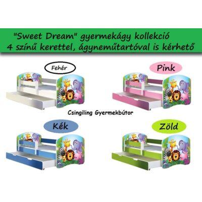 SWEET DREAM leesésgátlós gyerekágy - 3 méretben: 01 Zoo ÁLLATKERT