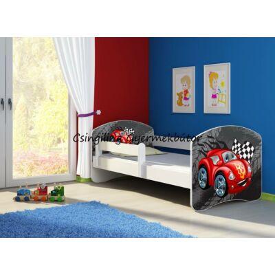 SWEET DREAM leesésgátlós gyerekágy - 3 méretben: 05 Red car PIROS AUTÓ