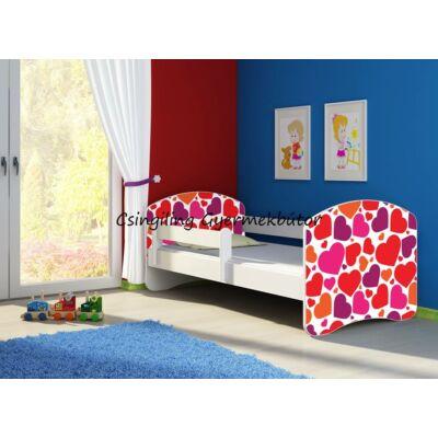 SWEET DREAM leesésgátlós gyerekágy - 3 méretben: 25 Sweet hearts SZÍVECSKÉS