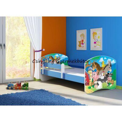 SWEET DREAM leesésgátlós gyerekágy ágyneműtartóval, 70x140 cm, kék kerettel: 33 FARM KÉSZLETRŐL