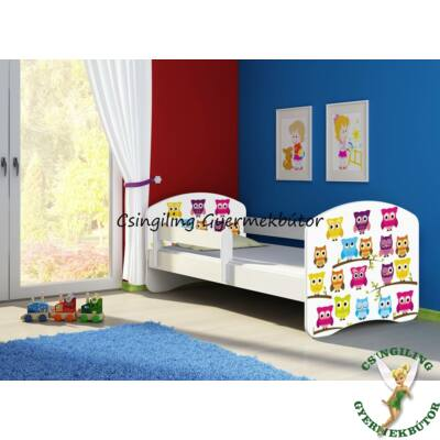 SWEET DREAM leesésgátlós gyerekágy - 3 méretben: 34 Owls BAGLYOK