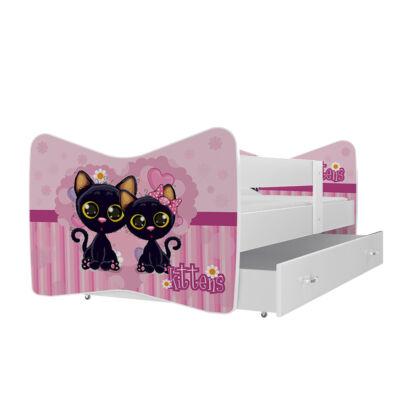 """""""TOMI"""" leesésgátlós gyerekágy ágyneműtartóval - 3 méretben: 52 Kittens"""