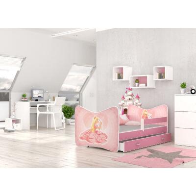 """""""TOMI"""" leesésgátlós gyerekágy ágyneműtartóval - 3 méretben: 55 Hercegnős"""