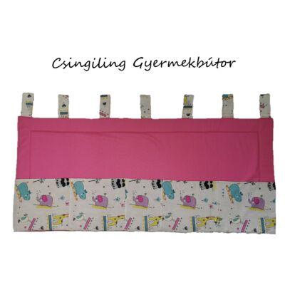 Falvédő zsebekkel: SUNSHINE Pink - rózsaszín elefántos 60x140 cm-es KÉSZLETRŐL!!!