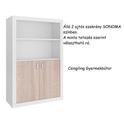 Filip 2 ajtós álló szekrény Sonoma-10 választható mintával
