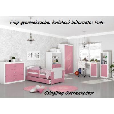 Leesésgátlós FILIP COLOR gyerekágy - 3 méretben: Rózsaszín