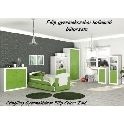 Leesésgátlós FILIP COLOR gyerekágy - 3 méretben: Zöld