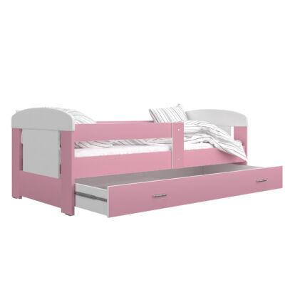 Leesésgátlós FILIP COLOR gyerekágy - 80x180-as méretben: Rózsaszín, KÉSZLETRŐL