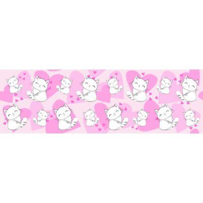 SKY ECO prémium gyerekágy 83x165 cm-es fekvőfelülettel: tetszőleges színű eco bőr keret - Sweet Kitty háttámla és fekvő