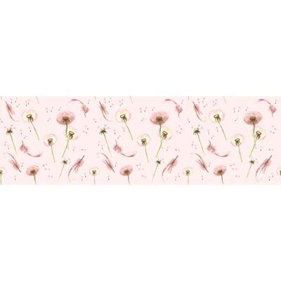 Sky Eco prémium eco bőr keretes ágyneműtartós gyerekágy: diamond Dandelion rózsaszín pitypangos 2