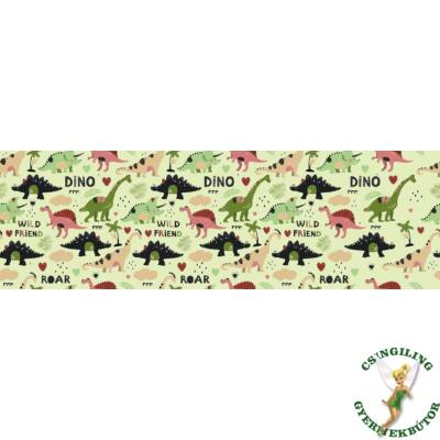 Celebrity prémium gyerekágy 83x165 cm-es fekvőfelülettel: tetszőleges eco bőr keret - DIAMOND Dino fekvőfelület