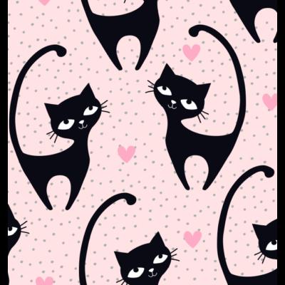 Rori Diamond ágyneműtartós kihúzható kanapéágy: Black Cat fekete cicás