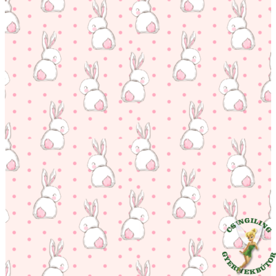 Celebrity prémium eco bőr keretes ágyneműtartós gyerekágy: diamond sweet bunny nyuszis