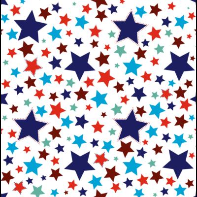 Celebrity prémium gyerekágy 83x165 cm-es fekvőfelülettel: tetszőleges eco bőr keret - DIAMOND Blue Stars fekvőfelület