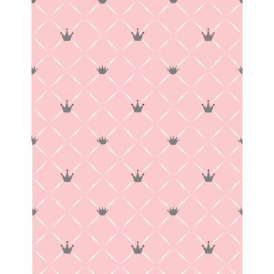 Celebrity prémium eco bőr keretes ágyneműtartós gyerekágy: szürke eco bőr diamond rózsaszín chesterfield koronás