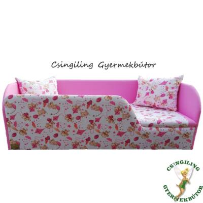 Sunshine leesésgátlós kárpitos gyerekágy: rózsaszín macis 10