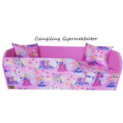 Sunshine leesésgátlós kárpitos gyerekágy: puncs rózsaszín királylányos 10
