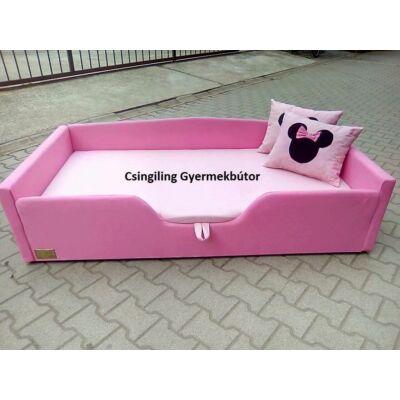 Sunshine leesésgátlós kárpitos gyerekágy: puncs rózsaszín Minnie