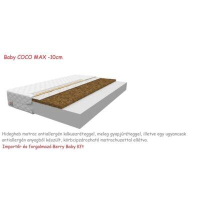 Baby COCO MAX Hideghab matrac antiallergén kókuszréteggel, 10 cm vastag - 80x190 cm-es KÉSZLETRŐL
