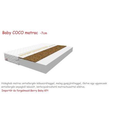 Baby COCO Hideghab matrac antiallergén kókuszréteggel, 7cm vastag - 80x180 cm-es KÉSZLETRŐL