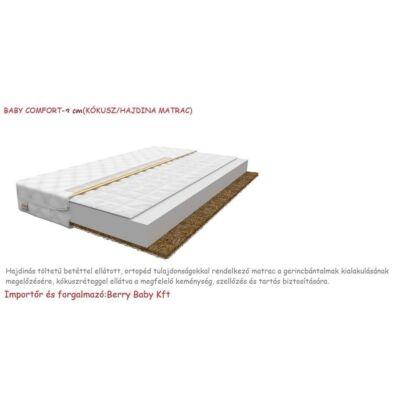 Baby COMFORT kókusz/hajdina matrac 9cm vastag - 90x180 cm-es KÉSZLETRŐL