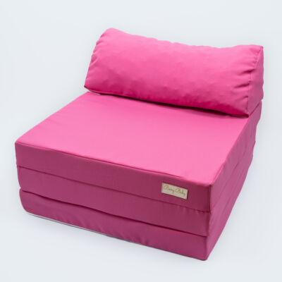 Kihajtható szivacs fotelágy/pótágy ifjúsági méretben: málna rózsaszín
