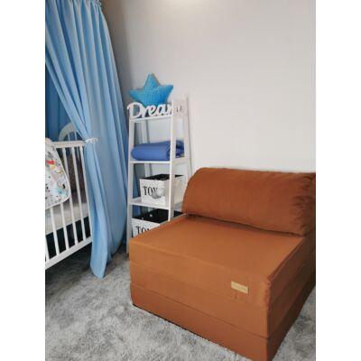 Kihajtható szivacs fotelágy/pótágy felnőtt méretben: Macibarna KÉSZLETRŐL!!!