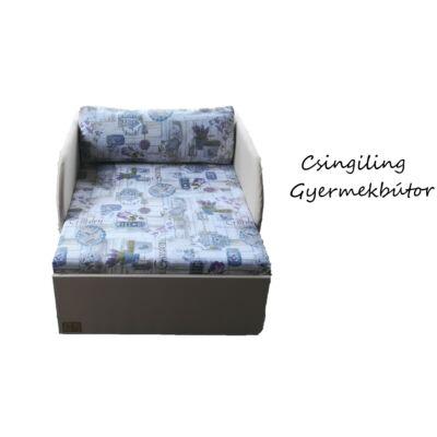 """""""SUNSHINE"""" kollekció - RORI kárpitos fotelágy: Drapp - Lila garden"""