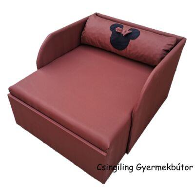"""""""SUNSHINE"""" kollekció - RORI kárpitos fotelágy: Csoki (Minnie fantázia dizájn párnával is kérhető)"""