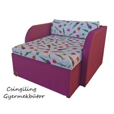 Rori Sunshine ágyneműtartós kárpitos fotelágy: orchidea rózsaszín tulipános 4