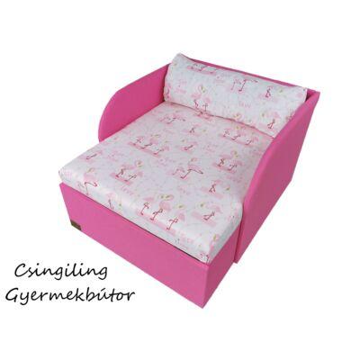 """""""SUNSHINE"""" kollekció - RORI kárpitos fotelágy: Pink - flamingós"""
