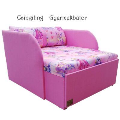 """""""SUNSHINE"""" kollekció - RORI kárpitos fotelágy: Pink - királylányos"""