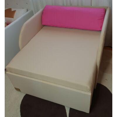 """""""SUNSHINE"""" kollekció - RORI kárpitos fotelágy:   Bézs (Pink dizájn párna kérhető hozzá)"""