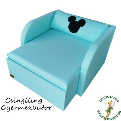 """""""WEXTRA"""" kollekció - RORI kárpitos fotelágy: Menta (Mickey fantázia dizájn párnával is kérhető)"""