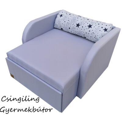 Rori Wextra ágyneműtartós kárpitos fotelágy: szürke sötétkék csillagos