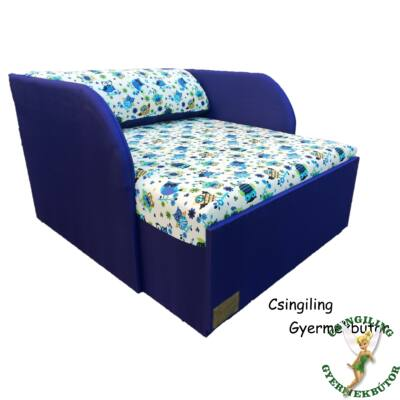 """""""WEXTRA"""" kollekció - RORI kárpitos fotelágy: Kék - kék nagy bagoly"""