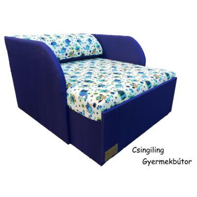 Rori Wextra ágyneműtartós kárpitos fotelágy: kék nagy baglyos