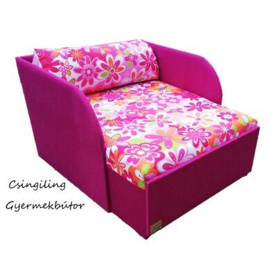 """""""WEXTRA"""" kollekció - RORI kárpitos fotelágy: Orchidea - nagy virágos"""