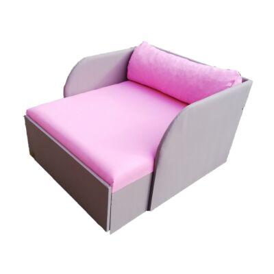 Rori Wextra ágyneműtartós kárpitos fotelágy: szürke rózsaszín fekvő 4