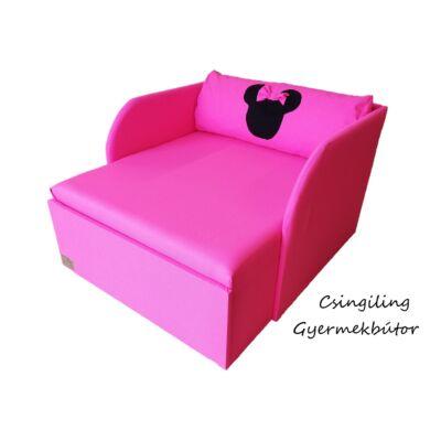 """""""WEXTRA"""" kollekció - RORI kárpitos fotelágy: Pink  (Minnie fantázia dizájn párnával is kérhető)"""