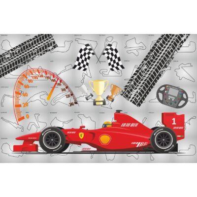 """""""DIAMOND"""" kollekció - RORI kárpitos kanapéágy: Fekete - Formula 1"""