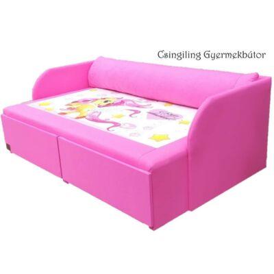 """""""DIAMOND"""" kollekció - RORI kárpitos kanapéágy: Pink - Pony"""